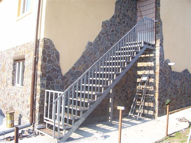 Виготовлення сходів. Зовнішні сходи №8