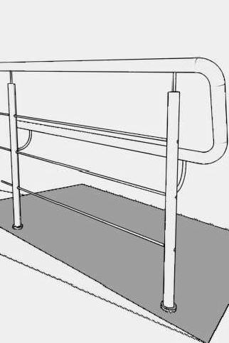 Вход для кресла на колесиках из нержавеющей стализ боковым поручни для инвалидов